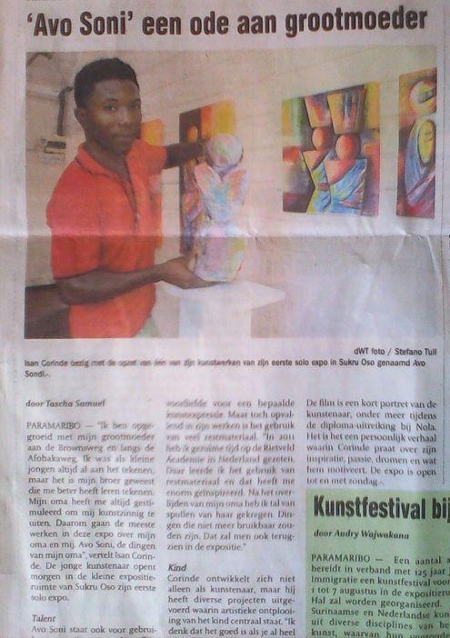 Article in de Ware Tijd about 'Avo Sondi'
