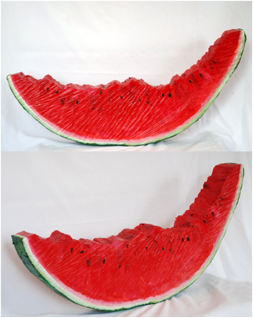 Kenneth Flijders, 'Just a melon', mixed media/wood, 104 cm wide x 50 cm high x 10 cm deep, 2011 - USD 750 / PHOTO Readytex Art Gallery/William Tsang