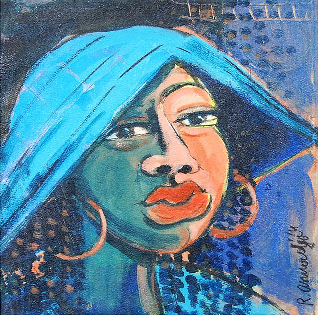 Reinier Asmoredjo, 'Angisa', acrylic on canvas, 33 cm wide x 32.7 cm high, 2014 – USD 300 / PHOTO Readytex Art Gallery/William Tsang