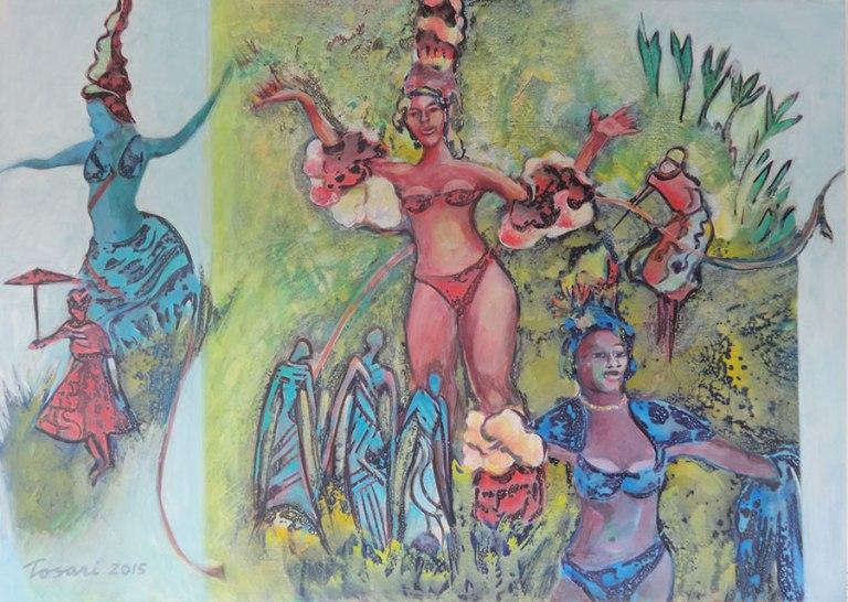 René Tosari, Carifesta '13', mixed media on canvas, 140x100cm, 2015 - USD 1500 / PHOTO Readytex Art Gallery/William Tsang