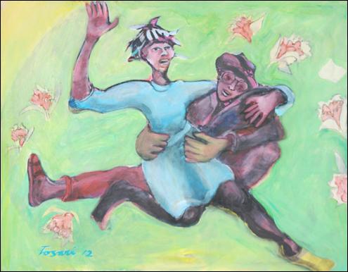 René Tosari, 'Untilted 1', mixed media on canvas, 90x70.5cm, 2012 - USD 1100 / PHOTO Readytex Art Gallery/William Tsang