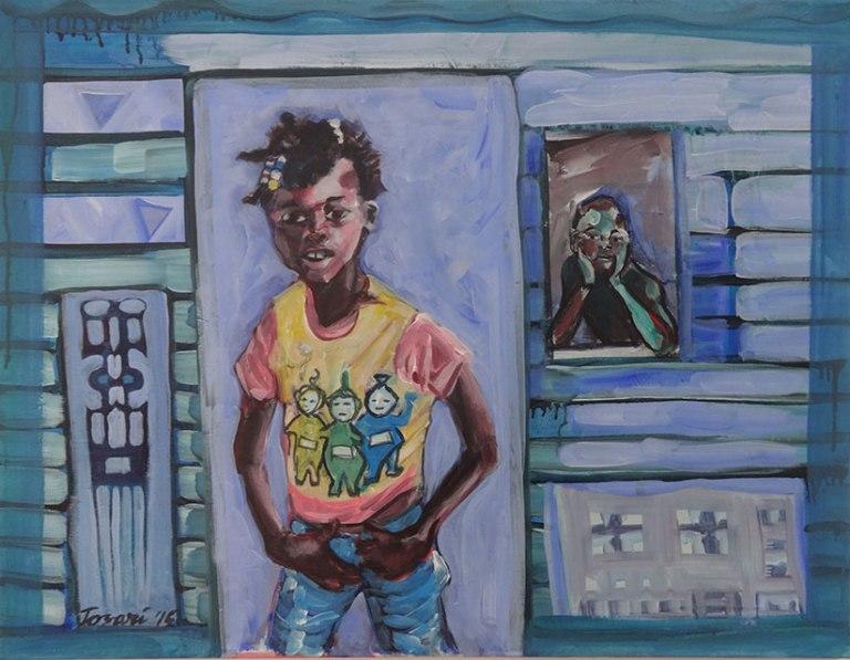 René Tosari, 'Untitled', mixed media on canvas, 91x70cm, 2015 - USD 950 / PHOTO Readytex Art Gallery/William Tsang