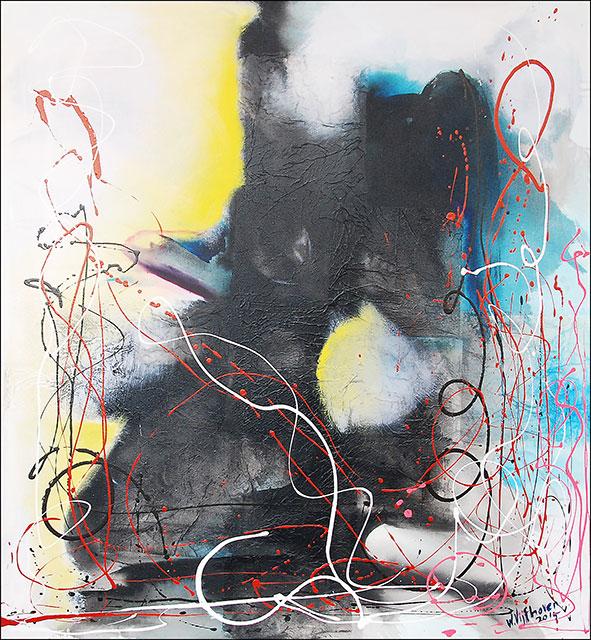 Wilgo Vijfhoven, 'Moeder en kind' [Mother and child], acrylic on canvas 139x151cm, 2015 - USD 1200 / PHOTO Readytex Art Gallery/William Tsang