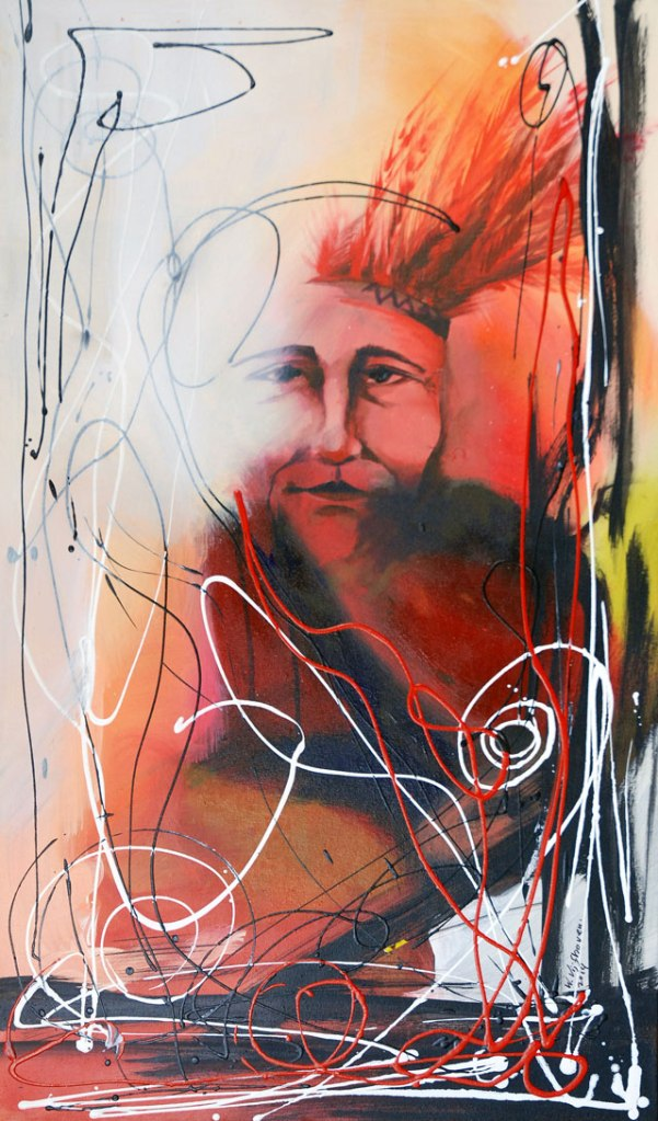 Wilgo Vijfhoven, 'The First ...', acrylics on canvas, 65 cm wide x 111 cm high, 2014 - USD 600 / PHOTO Readytex Art Gallery/William Tsang