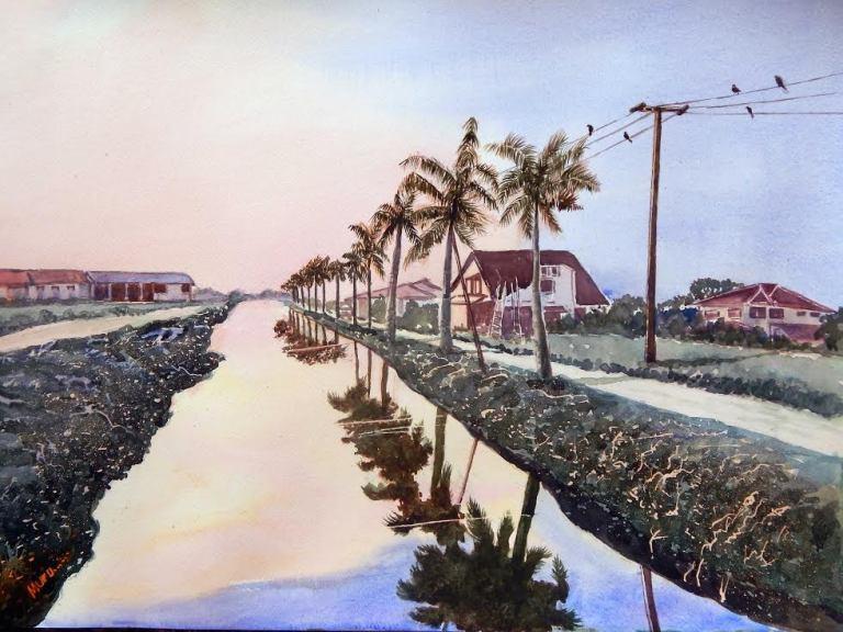 A. Murugesan, 'Evening Light Paramaribo North' / PHOTO Courtesy A. Murugesan