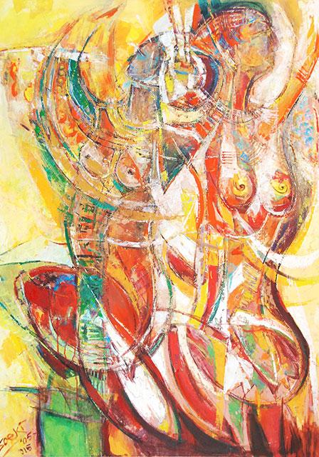 Soeki Irodikromo, 'Duality', acrylics on canvas, 105x148cm, 2005-2015 - USD 2800 / PHOTO Readytex Art Gallery/William Tsang