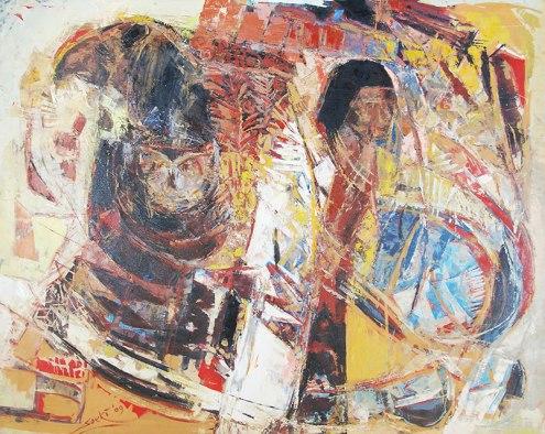 Soeki Irodikromo, 'Owrukuku', acrylics on canvas, 147x119cm, 2009 - USD 3000 / PHOTO Readytex Art Gallery/William Tsang