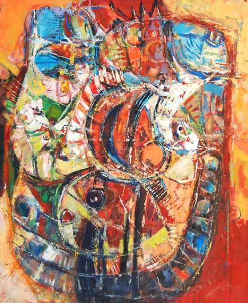 Soeki Irodikromo, 'Transformation', acrylics on canvas, 63x77cm, 2015 - USD 1500 / PHOTO Readytex Art Gallery/William Tsang