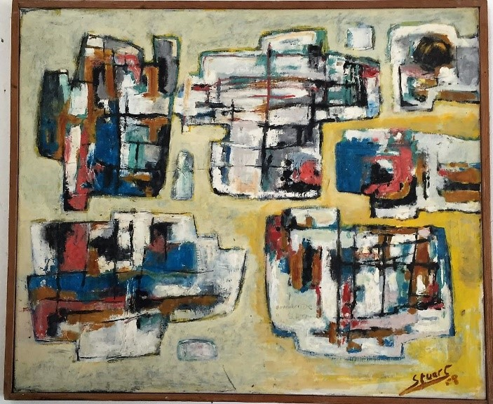 SRdM Abstract composition, private collection, 1958