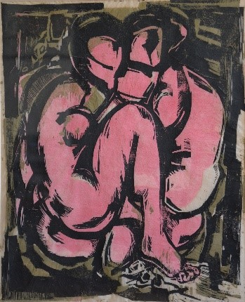 SRdM Two figures, woodcut, private collection, 1968