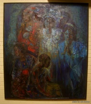 Soeki Irodikromo, 'Mesakat/Sadness', 130x150cm - USD 3000 / PHOTO Ada Korbee, 2017