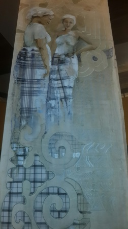 Sri Irodikromo, 'Baka Ayti Dey', detail, mixed media on canvas, 70x700cm (3x), 2017 / PHOTO Marieke Visser, 2017