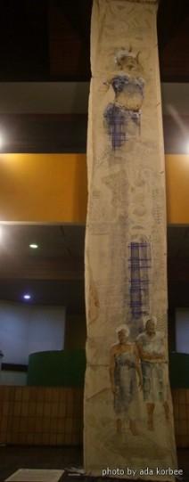 Sri Irodikromo, 'Baka Ayti Dey', mixed media on canvas, 70x700cm (3x), 2017 / PHOTO Ada Korbee, 2017